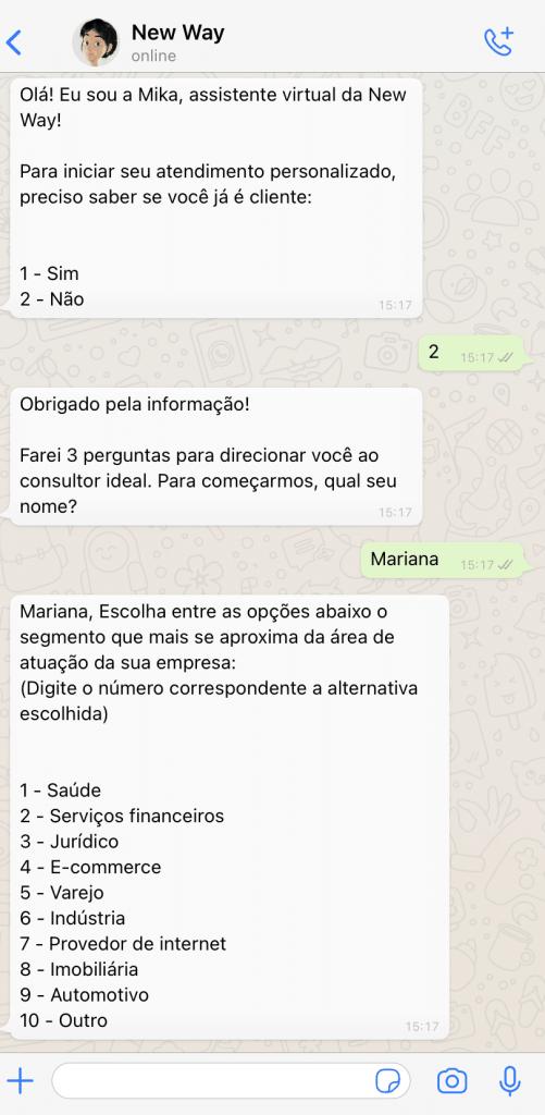 Chatbot para gerar leads